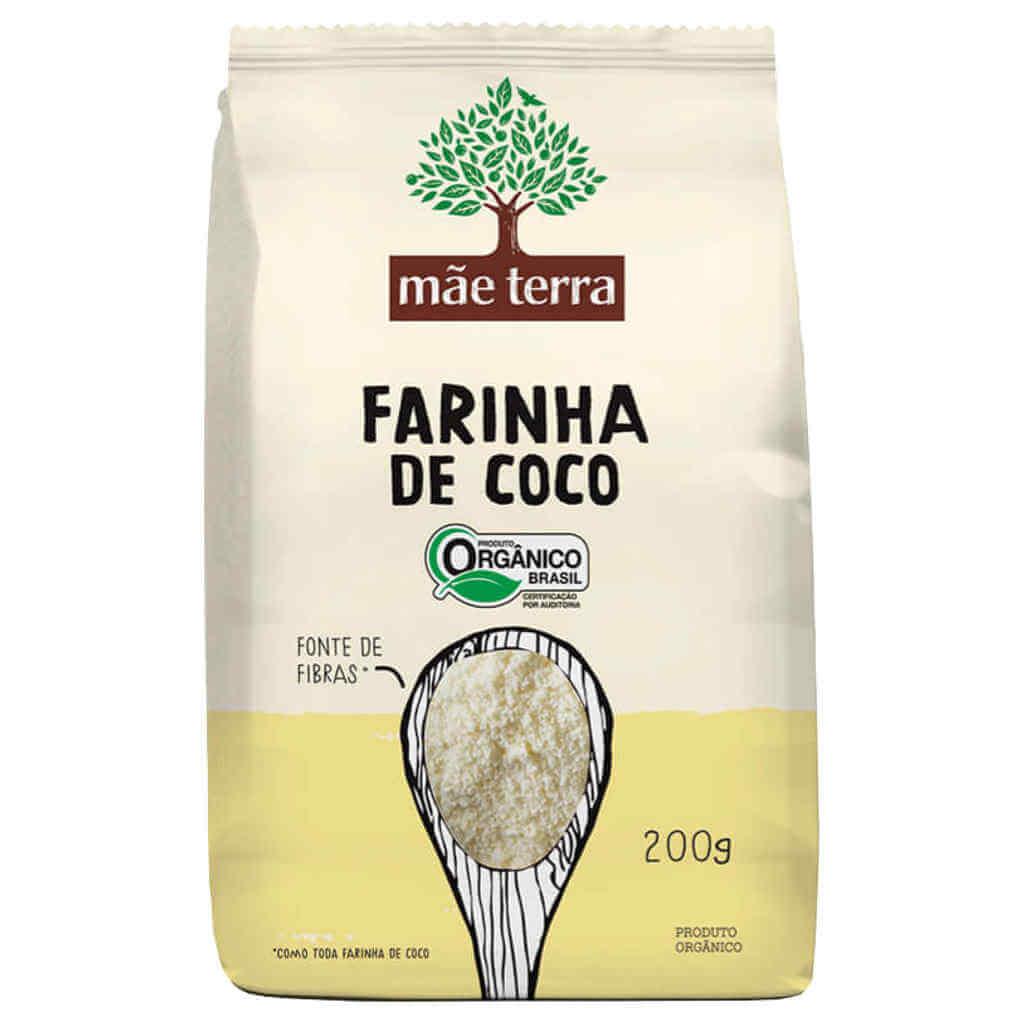 Farinha de Coco Orgânica 200g - Mãe Terra (Kit c/ 3 unidades)
