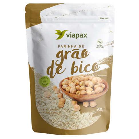 Farinha de Grão de Bico 200g - Viapax Bio  - Raiz Nativa - Loja de Produtos Naturais e Orgânicos Online