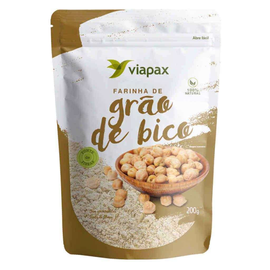 Farinha de Grão de Bico 200g - Viapax Bio (Kit c/ 3 unidades)
