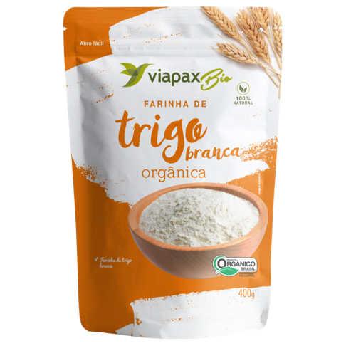 Farinha de Trigo Orgânica Branca 400g - Viapax Bio  - Raiz Nativa - Loja de Produtos Naturais e Orgânicos Online