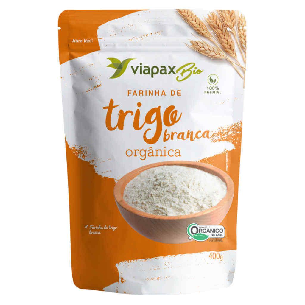 Farinha de Trigo Orgânica Branca 400g - Viapax Bio (Kit c/ 3 unidades)