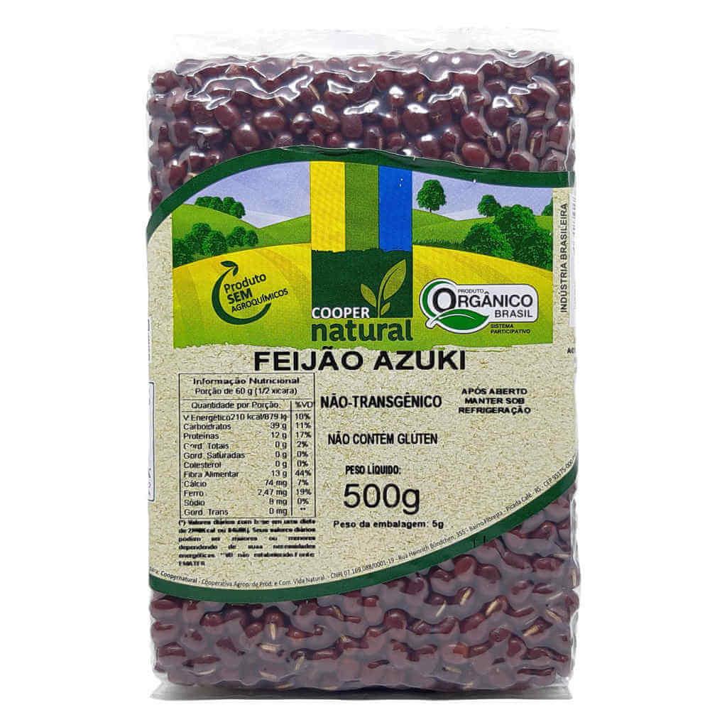 Feijão Azuki Orgânico 500g - Coopernatural