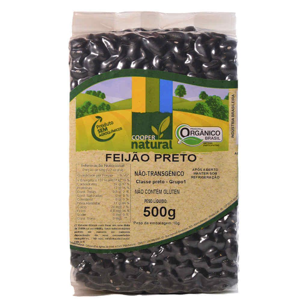 Feijão Preto Orgânico 500g - Coopernatural (Kit c/ 3 unidades)  - Raiz Nativa - Loja de Produtos Naturais e Orgânicos Online