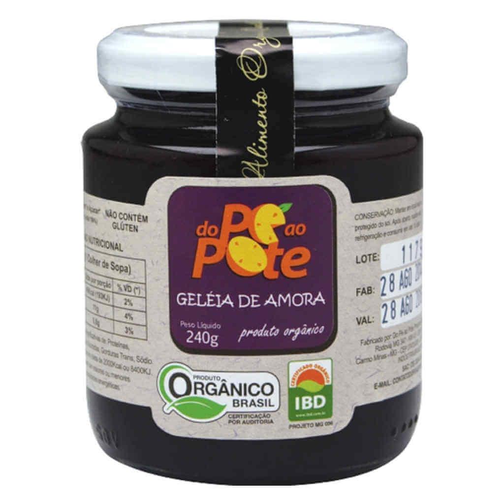 Geleia de Amora Orgânica 240g - Do Pé ao Pote  - Raiz Nativa - Loja de Produtos Naturais e Orgânicos Online