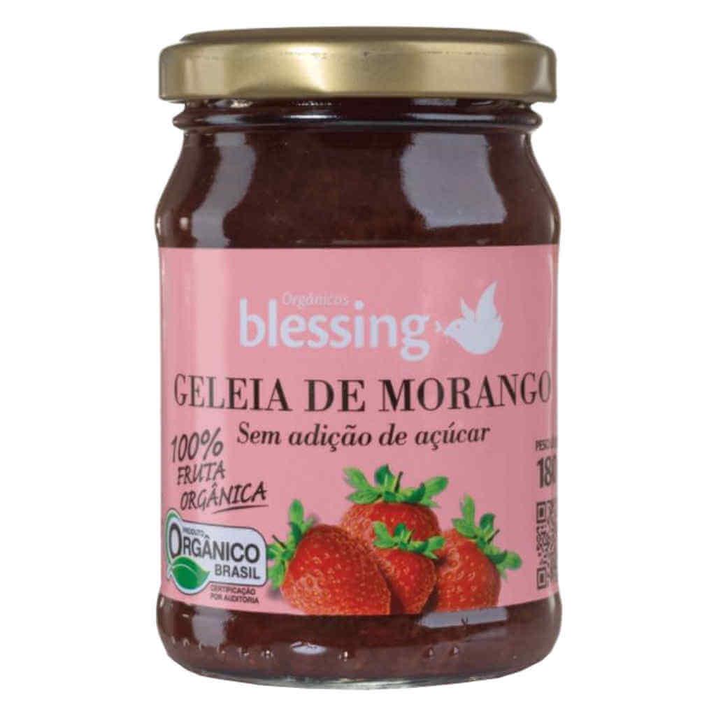 Geleia de Morango Sem Açúcar Orgânica 180g - Blessing