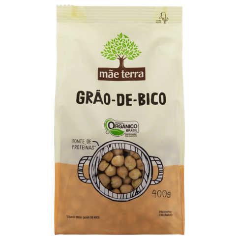 Grão de Bico Orgânico 400g - Mãe Terra  - Raiz Nativa - Loja de Produtos Naturais e Orgânicos Online