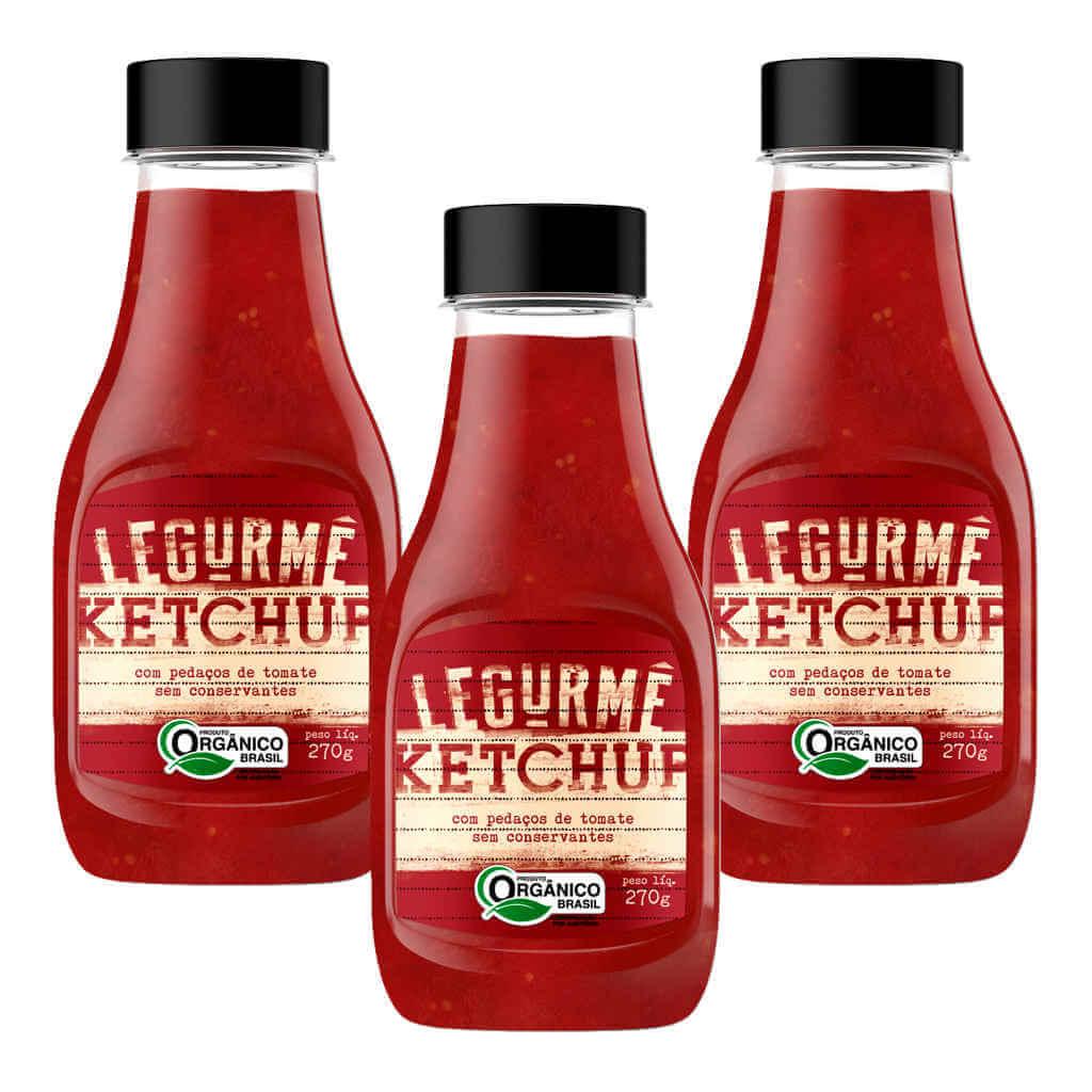 Ketchup Orgânico 270g - Legurmê (Kit c/ 3 bisnagas)  - Raiz Nativa - Loja de Produtos Naturais e Orgânicos Online