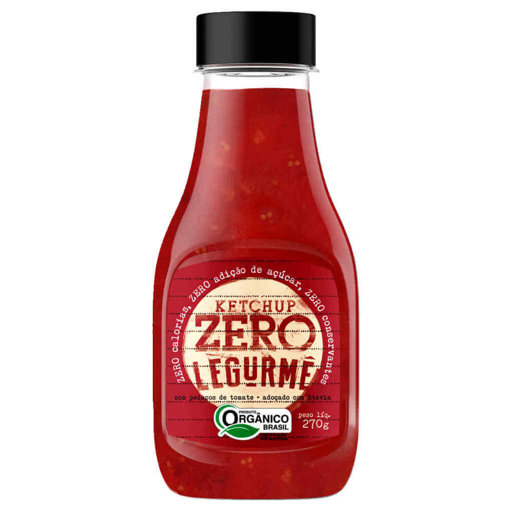 Ketchup Zero Orgânico 270g - Legurmê (Kit c/ 3 bisnagas)  - Raiz Nativa - Loja de Produtos Naturais e Orgânicos Online
