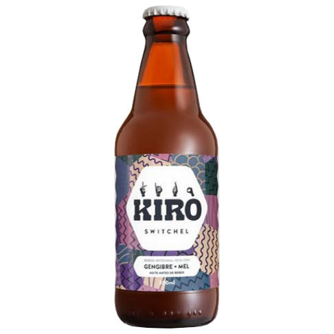 Kiro Switchel Gengibre e Mel 300ml (Kit c/ 3 unidades)  - Raiz Nativa - Loja de Produtos Naturais e Orgânicos Online