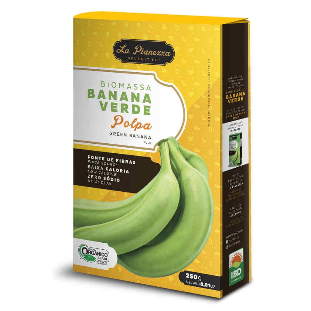Kit Biomassa de Banana Verde Orgânica La Pianezza - Polpa + Integral  - Raiz Nativa - Loja de Produtos Naturais e Orgânicos Online