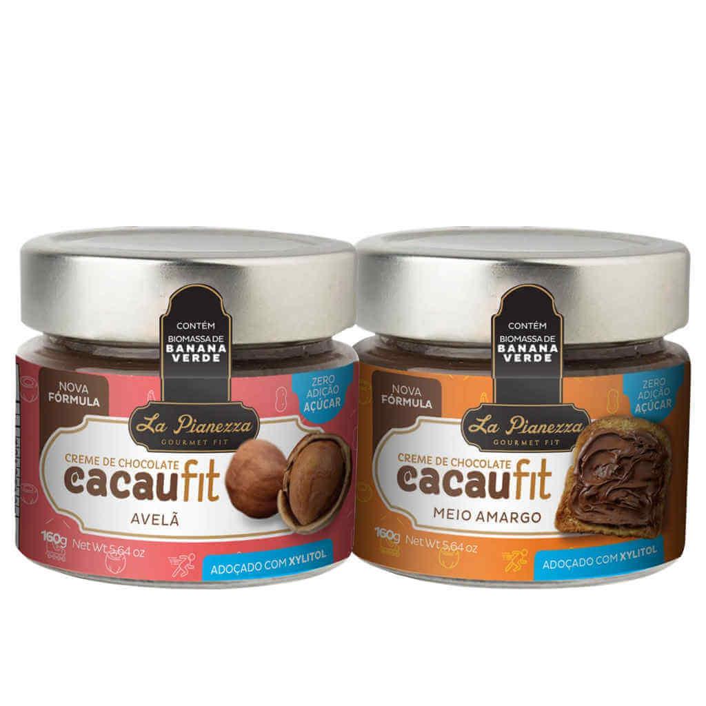 Kit Cacaufit Creme de Chocolate La Pianezza - Meio Amargo + Avelã  - Raiz Nativa - Loja de Produtos Naturais e Orgânicos Online