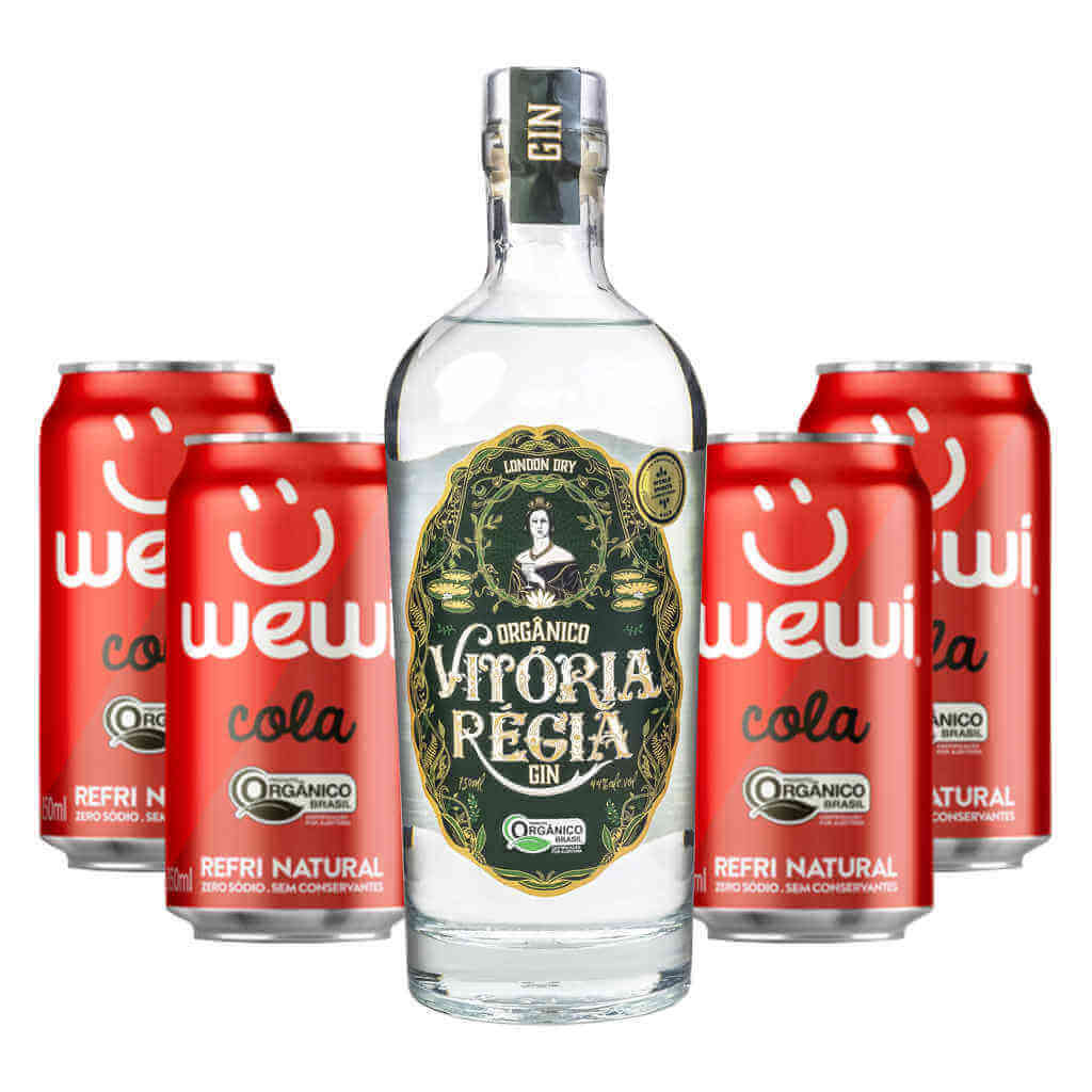 Kit Gin Vitória Régia + Wewi Cola