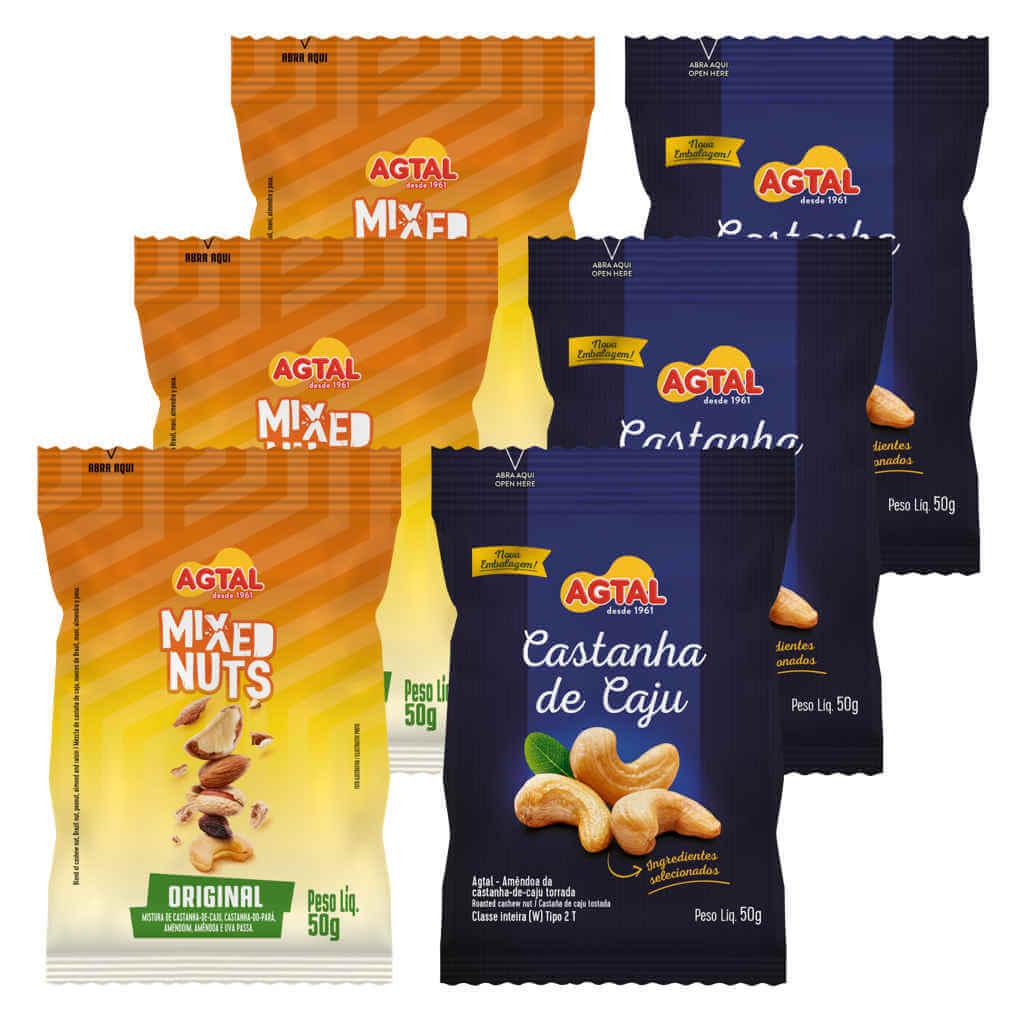 Kit Snacks Castanhas Agtal  - Raiz Nativa - Loja de Produtos Naturais e Orgânicos Online