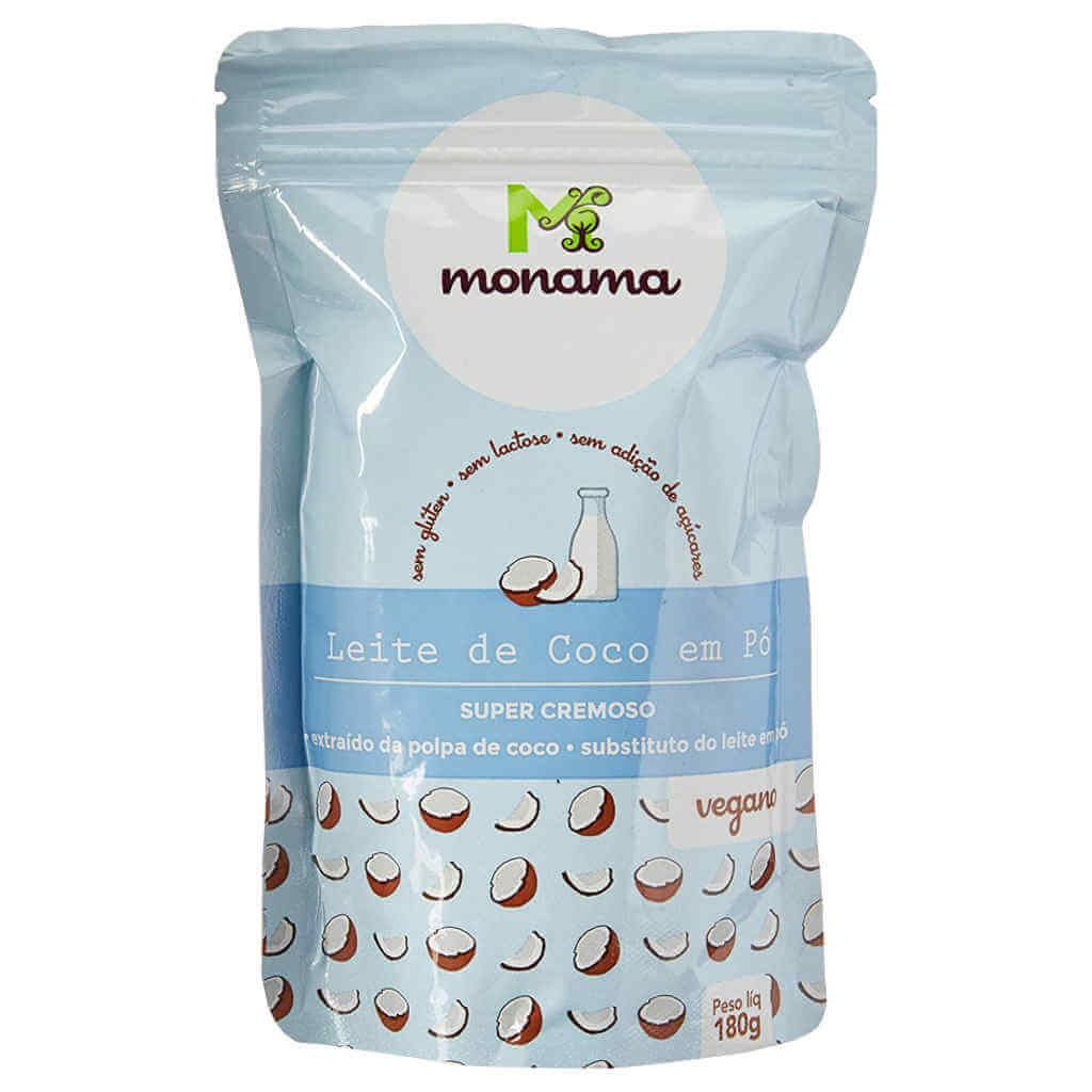 Leite de Coco em Pó Vegano Natural 180g - Monama (Kit c/ 3 unidades)  - Raiz Nativa - Loja de Produtos Naturais e Orgânicos Online