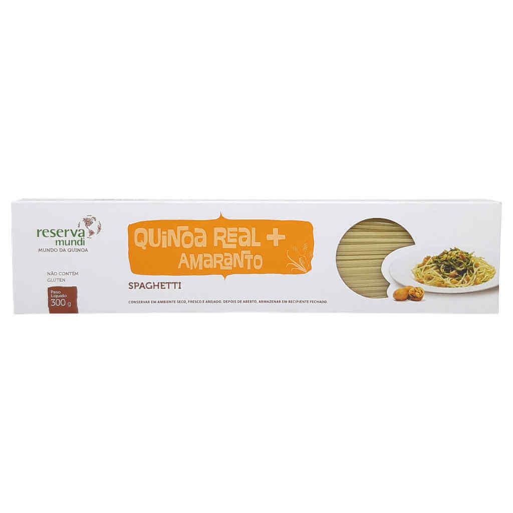 Macarrão de Quinoa e Amaranto Espaguete Sem Glúten 300g - Mundo da Quinoa