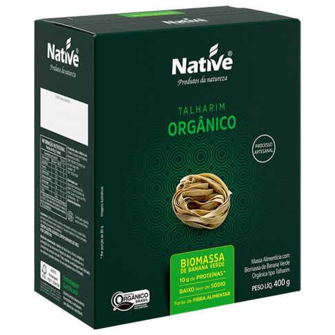 Macarrão Orgânico com Biomassa de Banana Verde 400g - Native  - Raiz Nativa - Loja de Produtos Naturais e Orgânicos Online