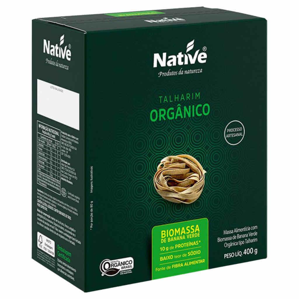 Macarrão Orgânico com Biomassa de Banana Verde 400g - Native (Kit c/ 3 unidades)  - Raiz Nativa - Loja de Produtos Naturais e Orgânicos Online