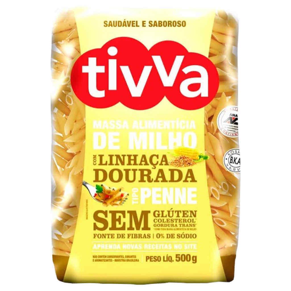 Macarrão Sem Glúten de Milho com Linhaça tipo Penne 500g - Tivva