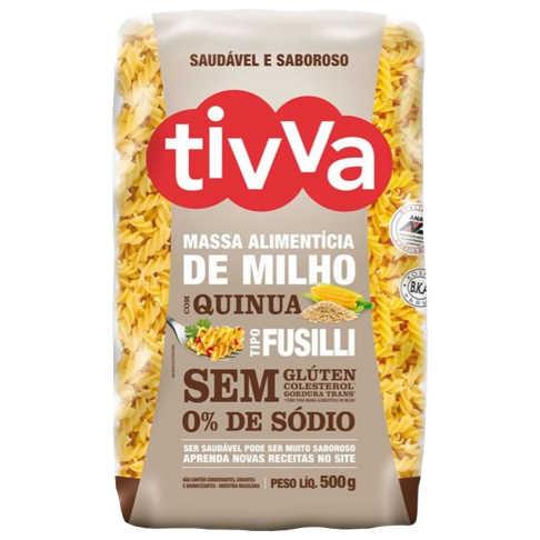 Macarrão Sem Glúten de Milho com Quinoa tipo Fusilli 500g - Tivva  - Raiz Nativa - Loja de Produtos Naturais e Orgânicos Online