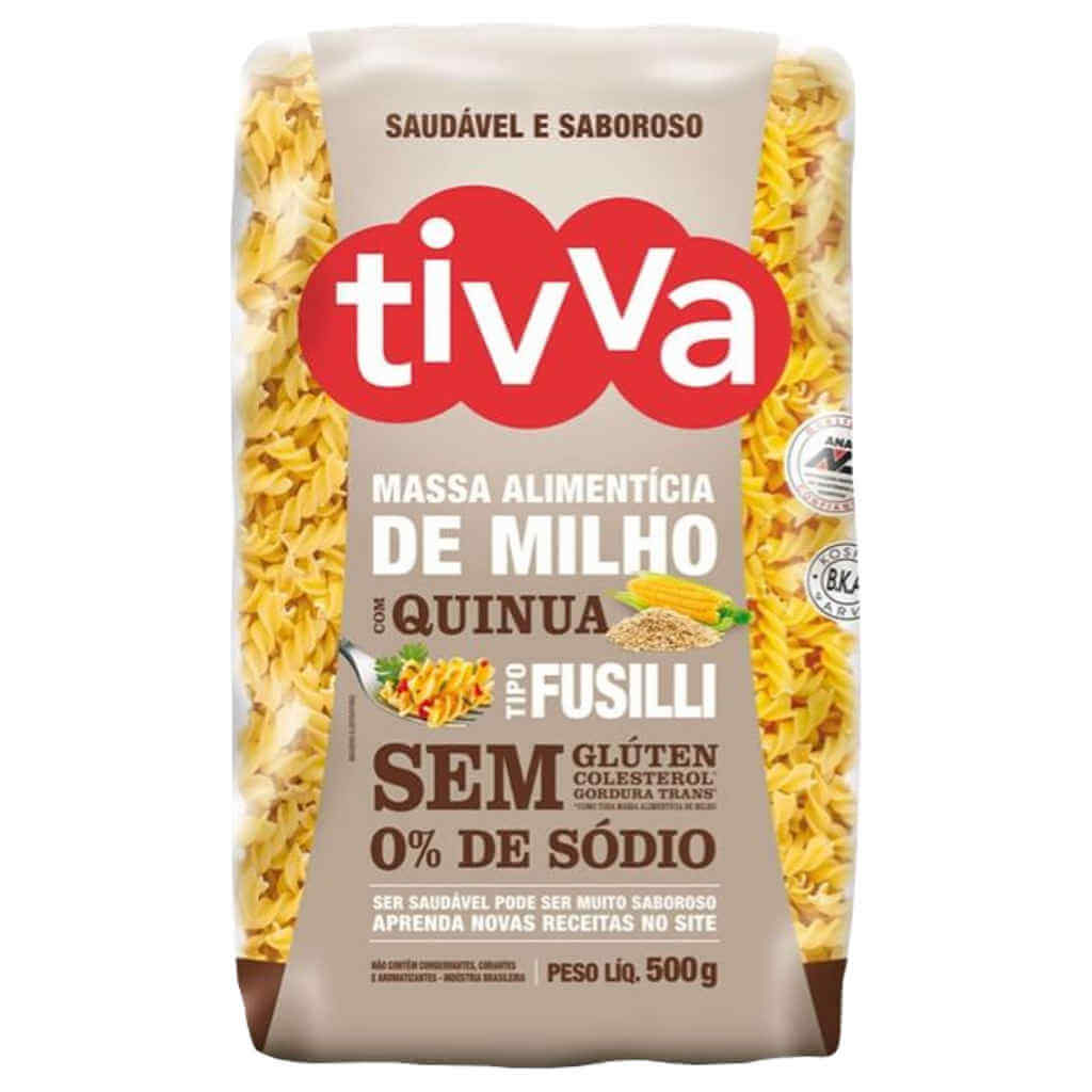 Macarrão Sem Glúten de Milho com Quinoa tipo Fusilli 500g - Tivva (Kit c/ 3)  - Raiz Nativa - Loja de Produtos Naturais e Orgânicos Online