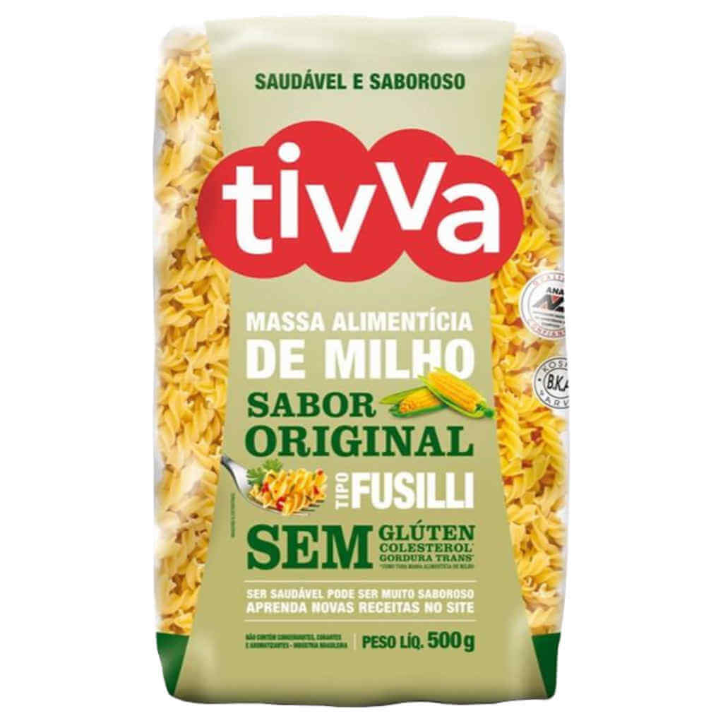Macarrão Sem Glúten de Milho tipo Fusilli 500g - Tivva (Kit c/ 3 unidades)  - Raiz Nativa - Loja de Produtos Naturais e Orgânicos Online