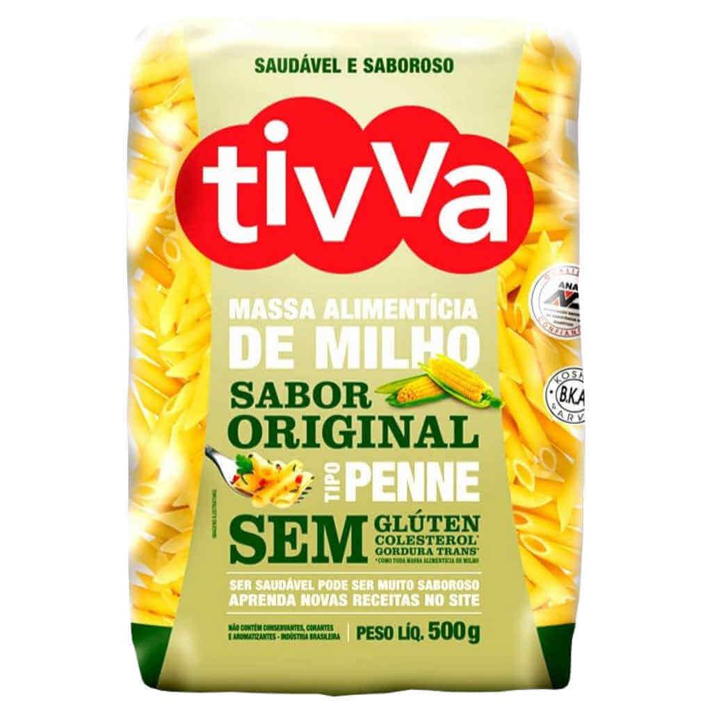 Macarrão Sem Glúten de Milho tipo Penne 500g - Tivva