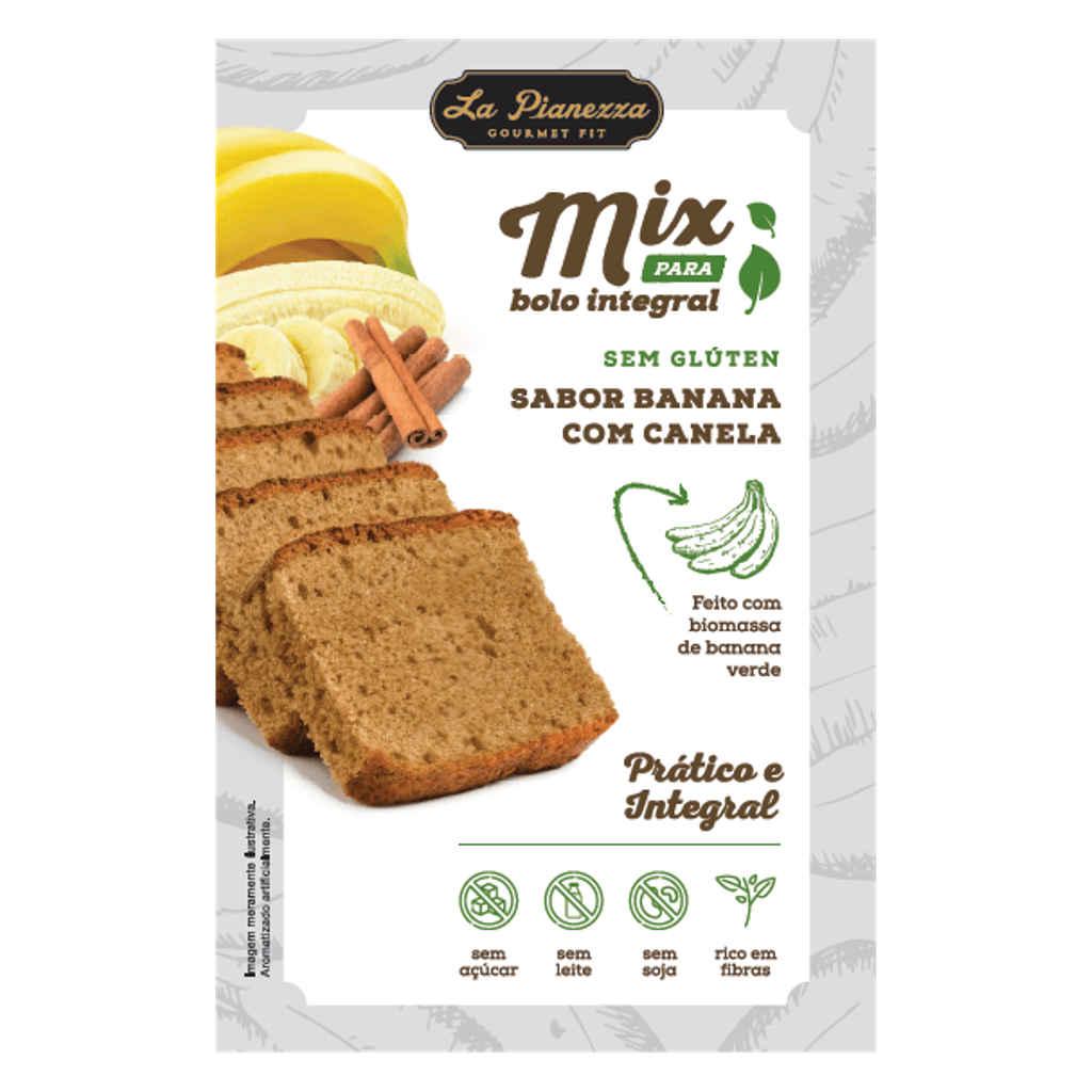 Mistura para Bolo Integral de Banana com Canela 350g - La Pianezza