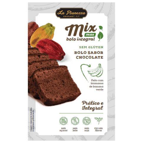 Mistura para Bolo Integral de Chocolate 350g - La Pianezza  - Raiz Nativa - Loja de Produtos Naturais e Orgânicos Online