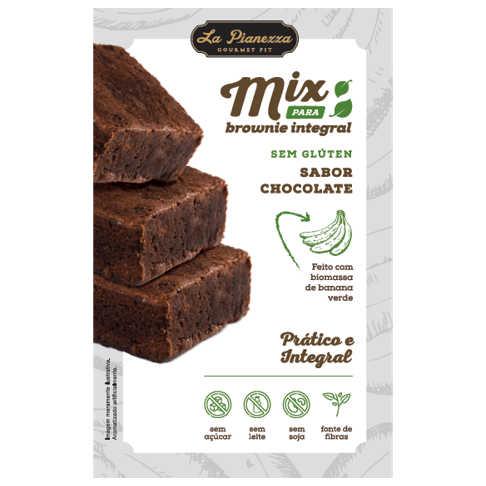 Mistura para Brownie Integral Chocolate 250g - La Pianezza  - Raiz Nativa - Loja de Produtos Naturais e Orgânicos Online