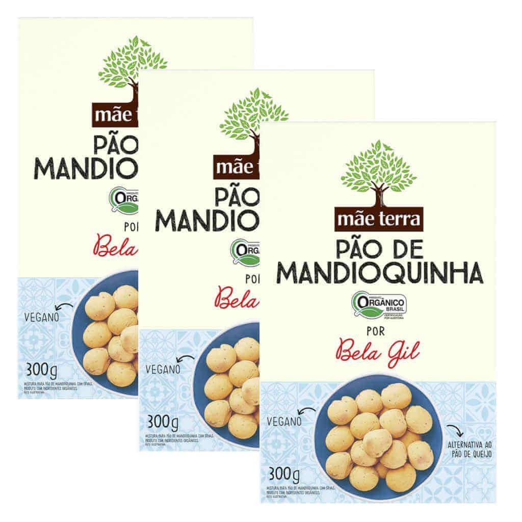 Mistura para Pão de Mandioquinha Bela Gil Orgânico 300g - Mãe Terra (Kit c/ 3 unidades)  - Raiz Nativa - Loja de Produtos Naturais e Orgânicos Online