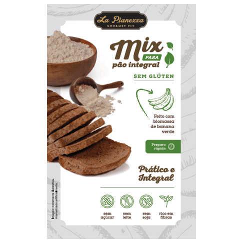 Mistura para Pão Integral 300g - La Pianezza  - Raiz Nativa - Loja de Produtos Naturais e Orgânicos Online