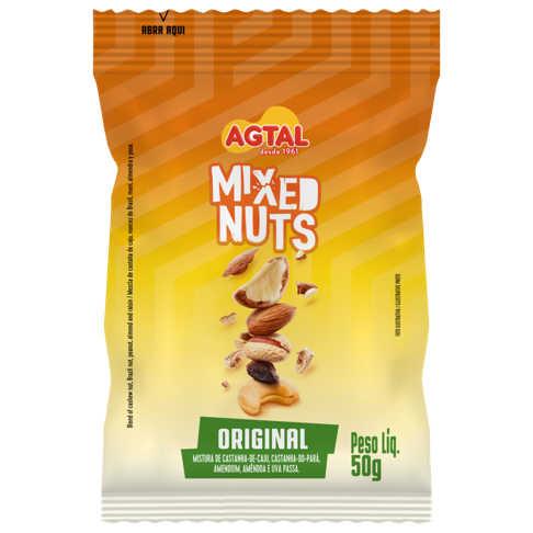 Mix de Castanhas Mixed Nuts 50g - Agtal  - Raiz Nativa - Loja de Produtos Naturais e Orgânicos Online