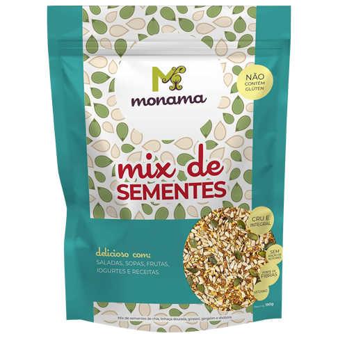 Mix de Sementes 190g - Monama  - Raiz Nativa - Loja de Produtos Naturais e Orgânicos Online