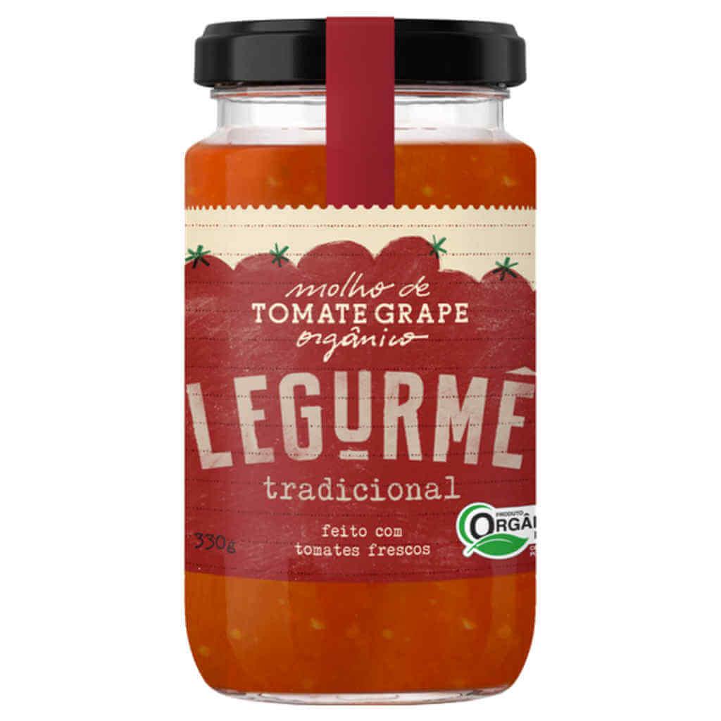 Molho de Tomate Grape Orgânico Tradicional 330g - Legurmê  - Raiz Nativa - Loja de Produtos Naturais e Orgânicos Online