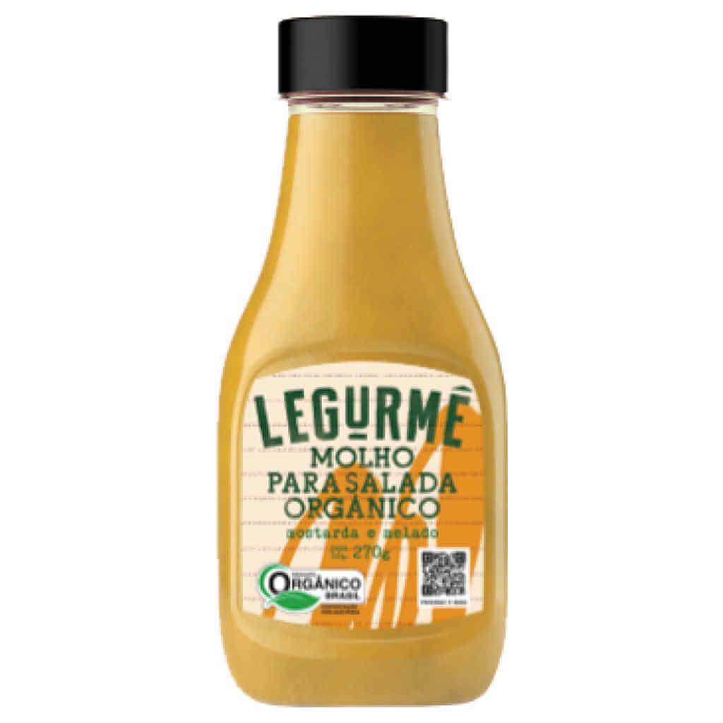 Molho para Salada Mostarda e Melado Orgânico 270g - Legurmê (Kit c/ 3 unidades)  - Raiz Nativa - Loja de Produtos Naturais e Orgânicos Online