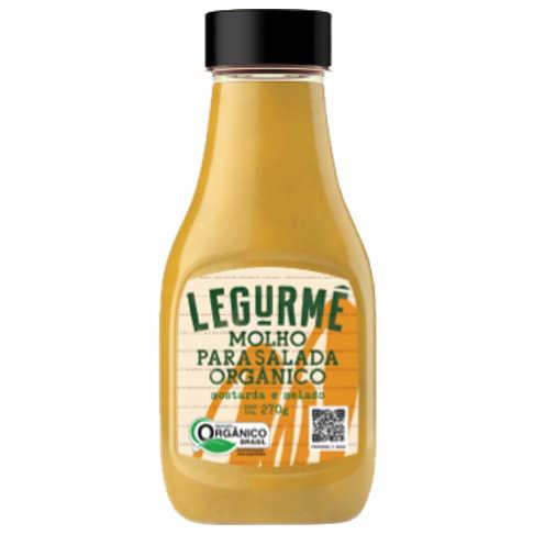 Molho Pronto para Salada Mostarda e Melado Orgânico 270g - Legurmê  - Raiz Nativa - Loja de Produtos Naturais e Orgânicos Online