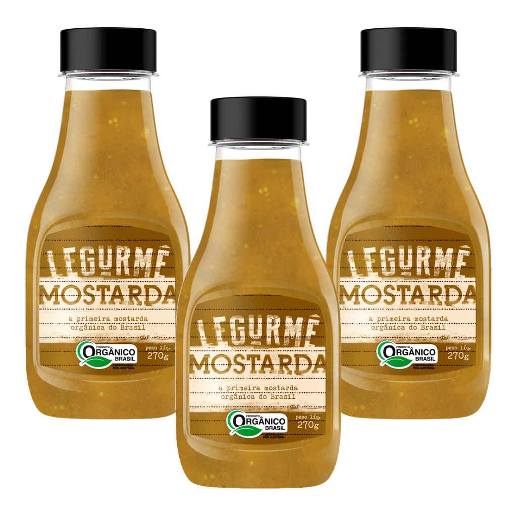 Mostarda Orgânica 270g - Legurmê (Kit c/ 3 bisnagas)  - Raiz Nativa - Loja de Produtos Naturais e Orgânicos Online