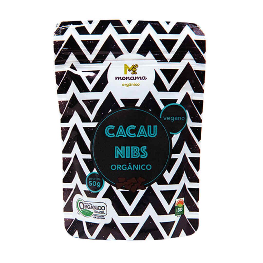 Nibs de Cacau Orgânico 50g - Monama (Kit c/ 3 unidades)  - Raiz Nativa - Loja de Produtos Naturais e Orgânicos Online