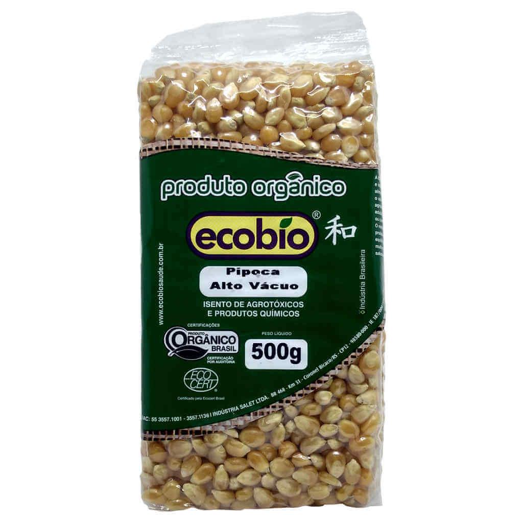 Pipoca Orgânica 500g - Ecobio (Kit c/ 3 unidades)