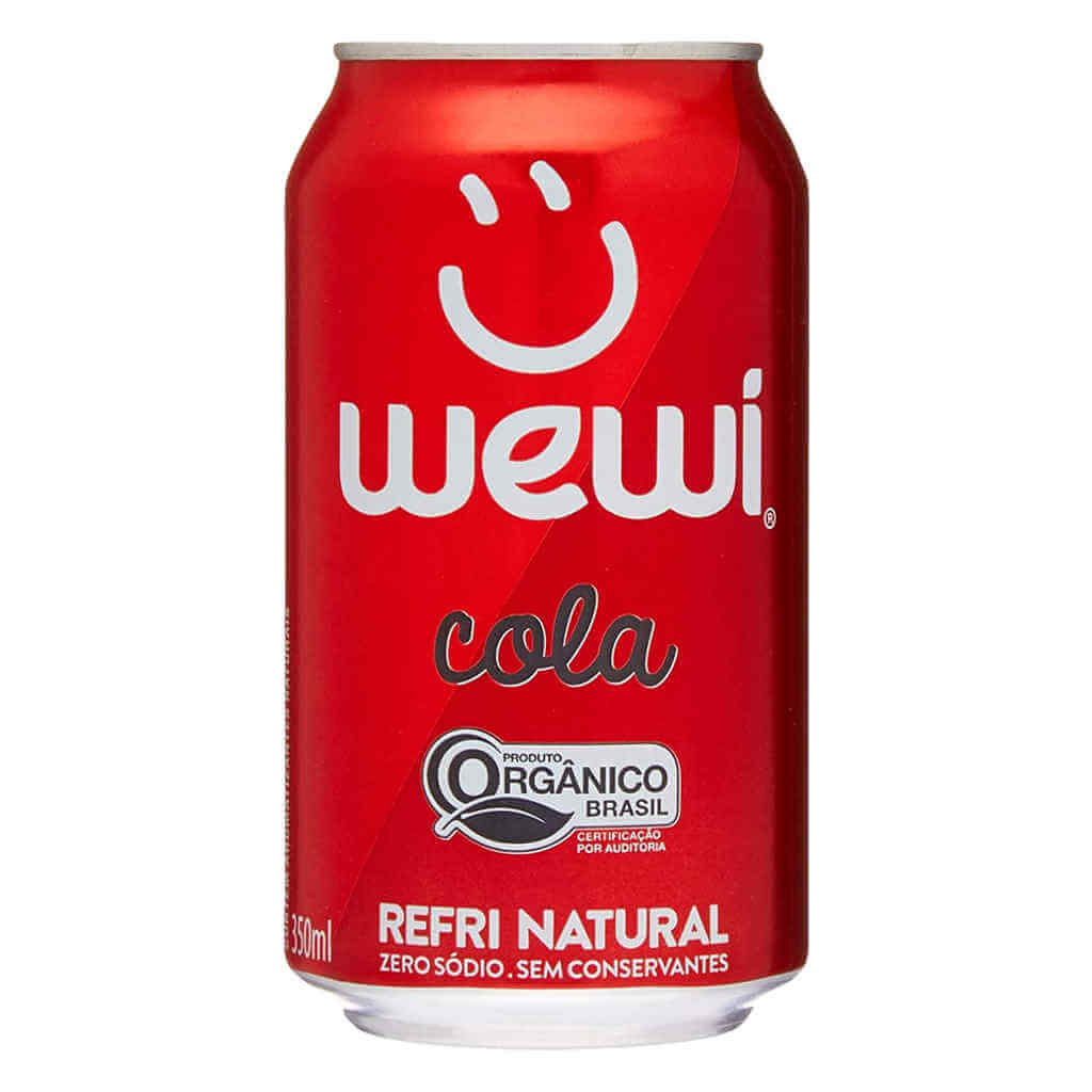 Refrigerante Wewi Cola Orgânico Lata 350ml - Wewi (12 latas)  - Raiz Nativa - Loja de Produtos Naturais e Orgânicos Online