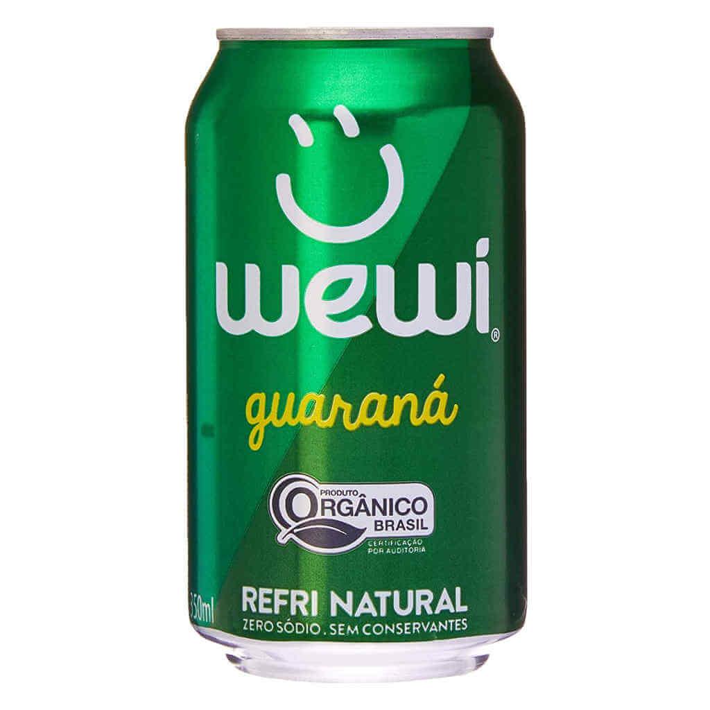 Refrigerante Wewi Guaraná Orgânico Lata 350ml - Wewi (6 latas)  - Raiz Nativa - Loja de Produtos Naturais e Orgânicos Online