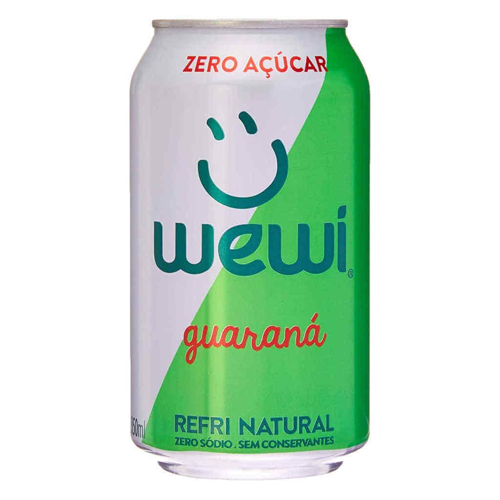 Refrigerante Wewi Guaraná Zero Açúcar Natural Lata 350ml - Wewi