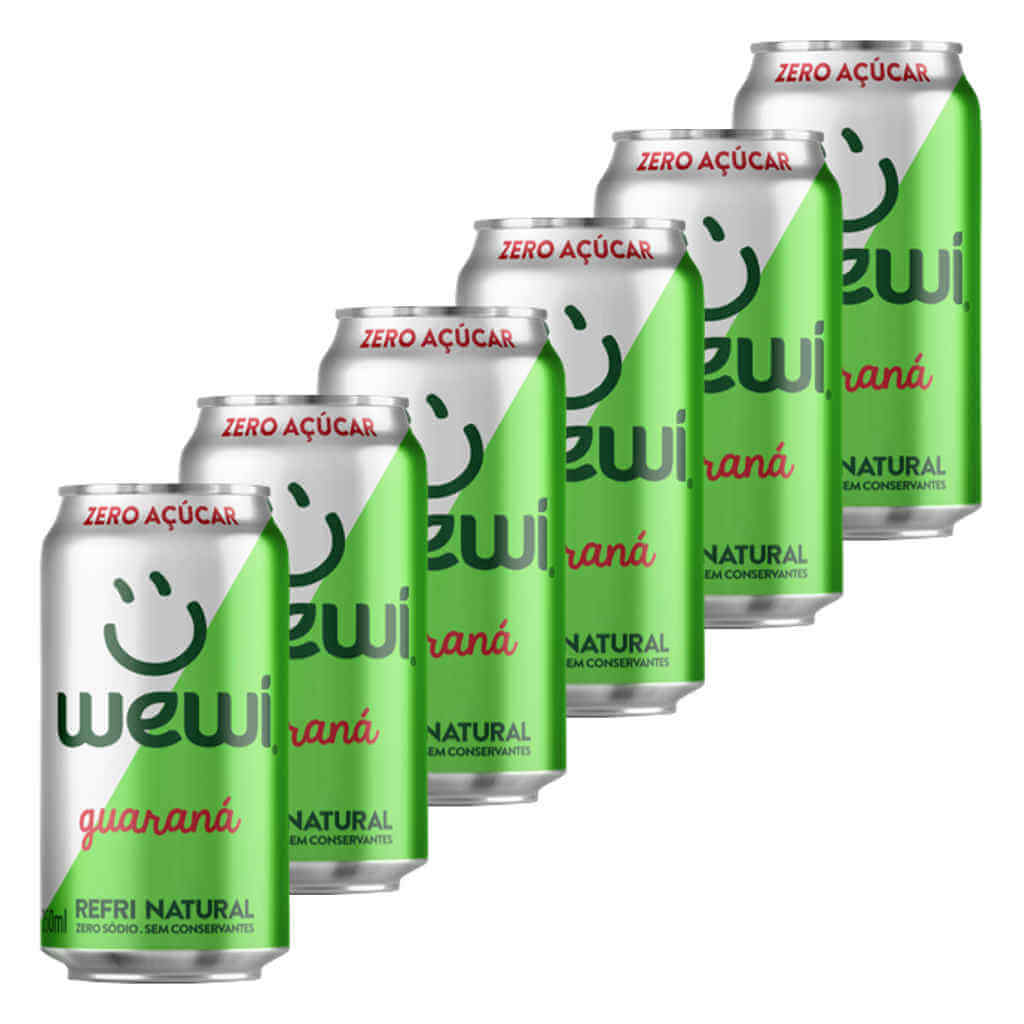 Refrigerante Wewi Guaraná Zero Açúcar Natural Lata 350ml - Wewi (6 latas)