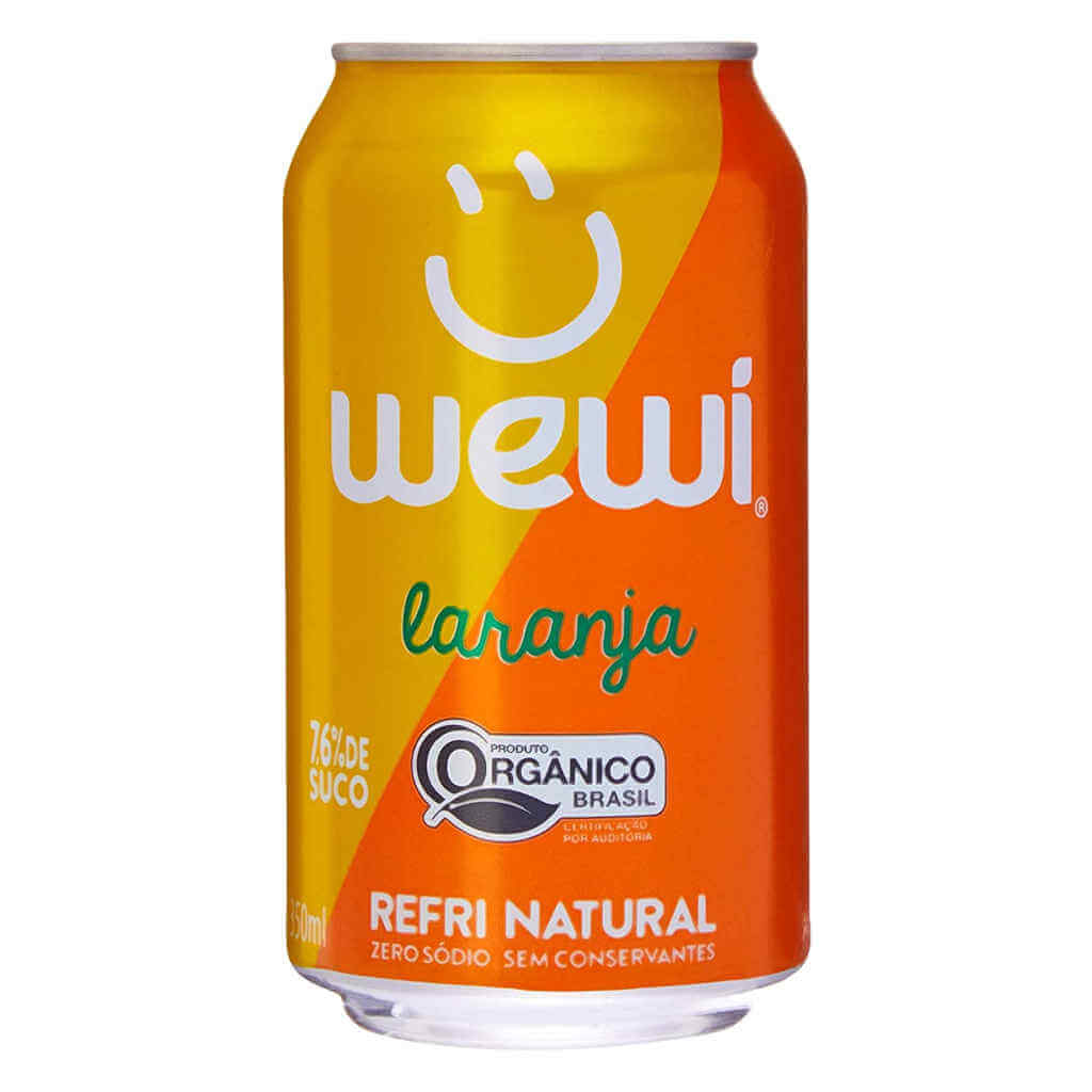 Refrigerante Wewi Laranja Orgânico Lata 350ml - Wewi (12 latas)