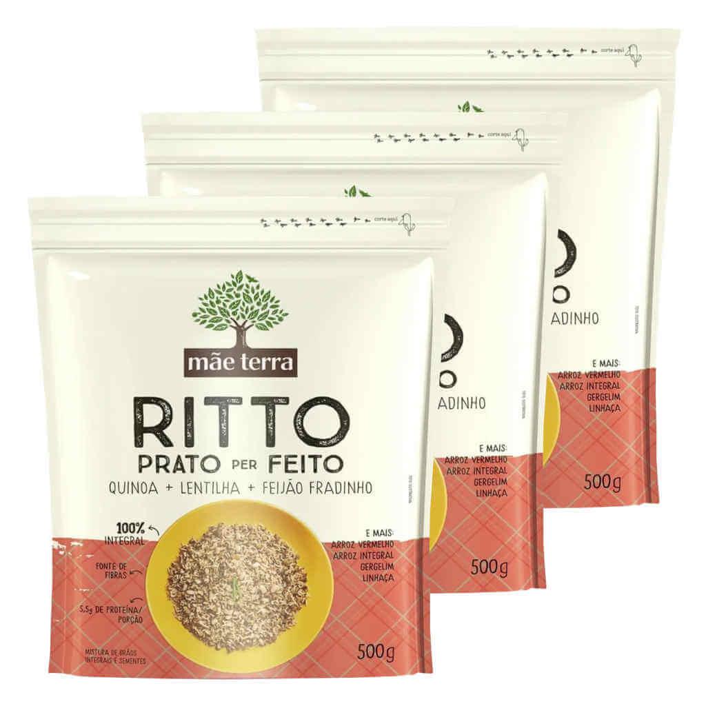 Ritto Prato per Feito 500g - Mãe Terra (Kit c/ 3 unidades)