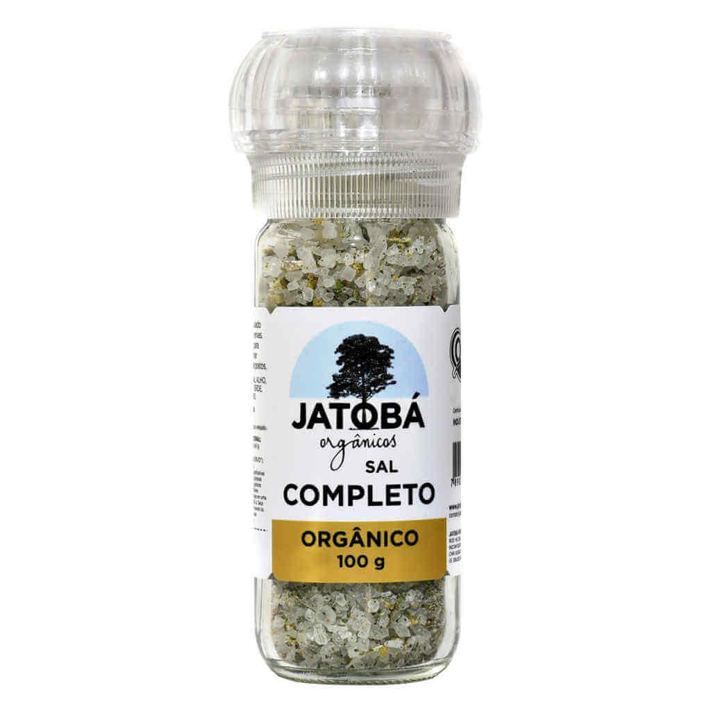 Sal Temperado Completo com Moedor Orgânico 100g - Jatobá  - Raiz Nativa - Loja de Produtos Naturais e Orgânicos Online