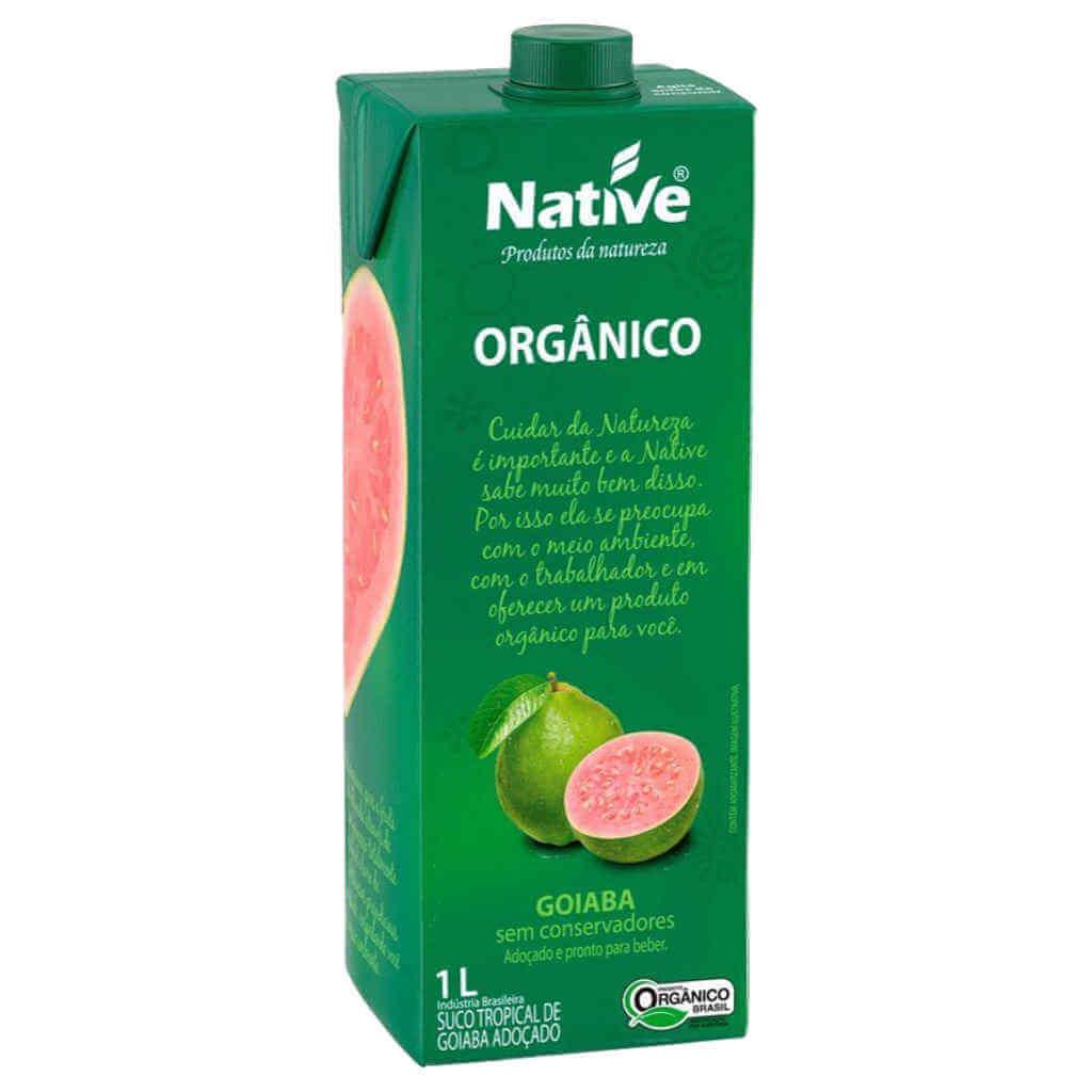 Suco de Goiaba Natural Orgânico 1L - Native  - Raiz Nativa - Loja de Produtos Naturais e Orgânicos Online