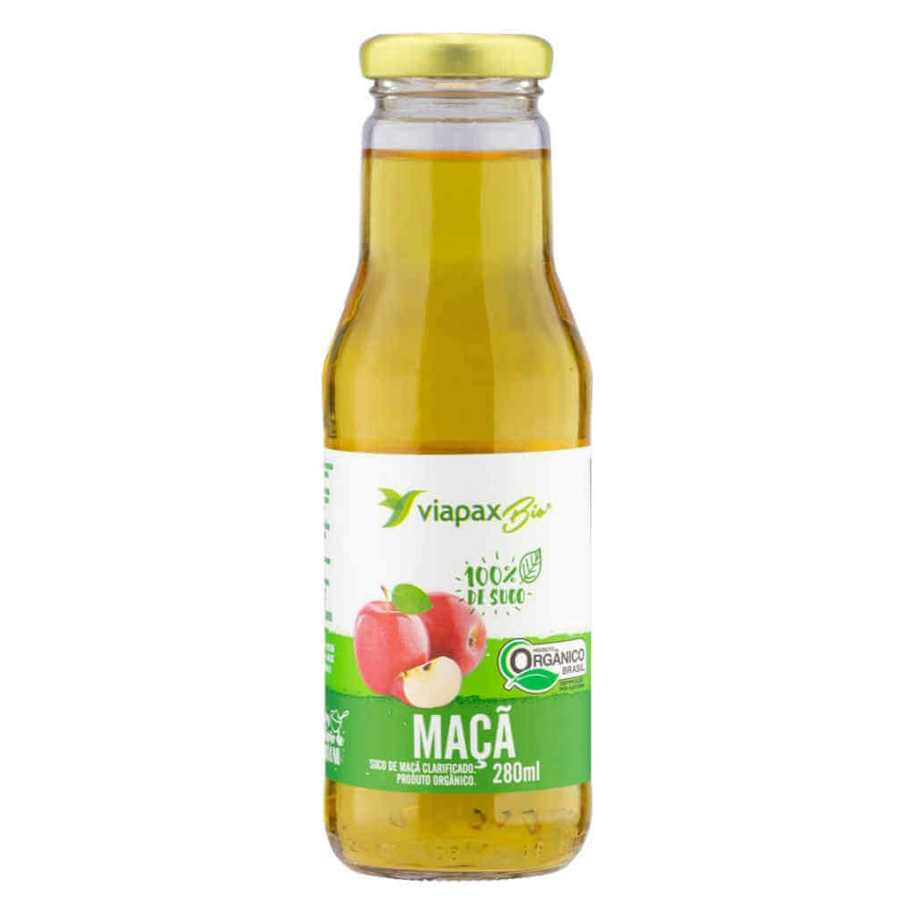 Suco de Maçã Orgânico 280ml - Viapax Bio  - Raiz Nativa - Loja de Produtos Naturais e Orgânicos Online
