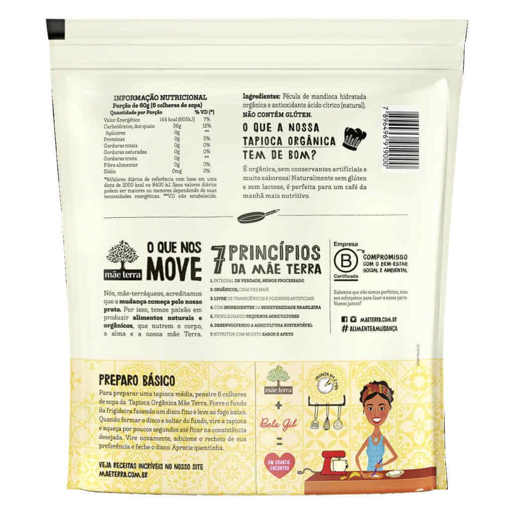 Tapioca Orgânica Bela Gil 400g - Mãe Terra (Kit c/ 3 unidades)  - Raiz Nativa - Loja de Produtos Naturais e Orgânicos Online