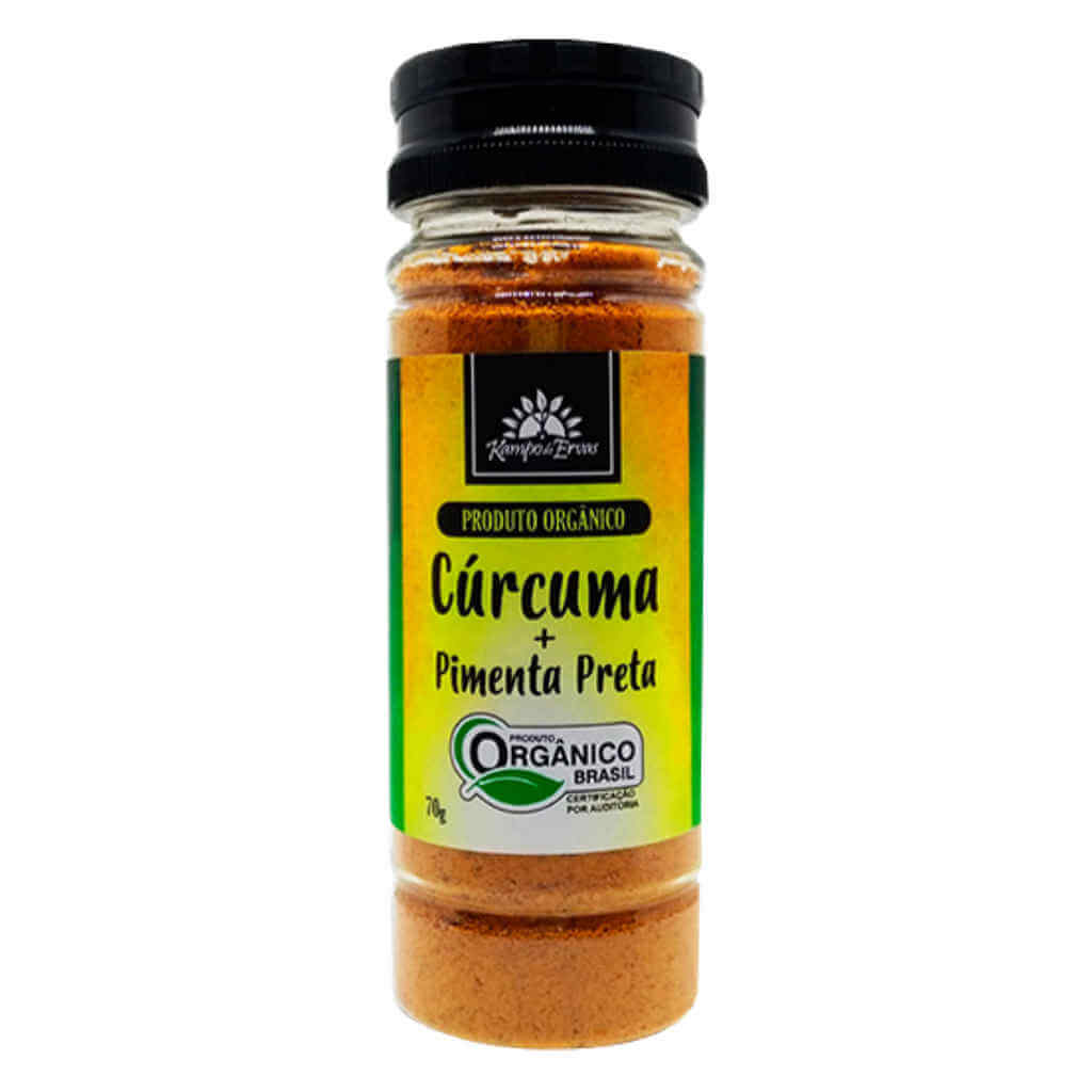Tempero Cúrcuma com Pimenta Preta Orgânica em Pó 70g - Kampo de Ervas
